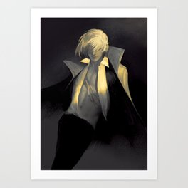 Dark Modern Howl Art Print