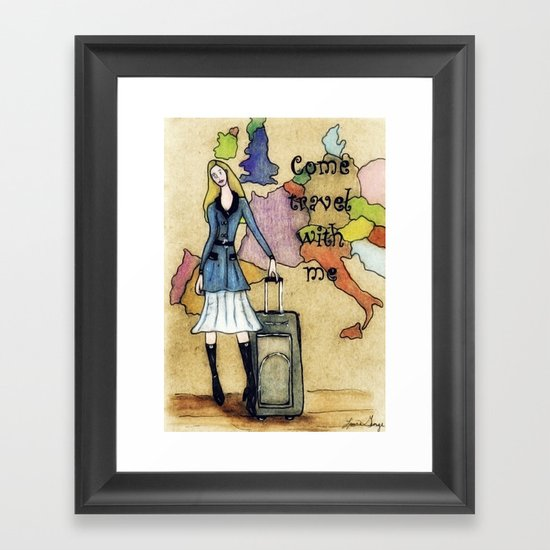 Come Travel With Me Framed Art Print