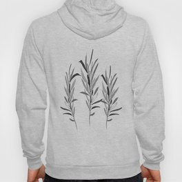 Eucalyptus Branches Black And White Hoody