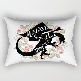 Never Laugh At Live Dragons Rectangular Pillow