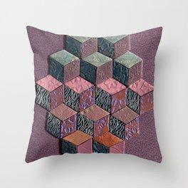 Tumbling Blocks #6 Throw Pillow