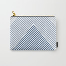 Shades of Blue Abstract geometric pattern Carry-All Pouch