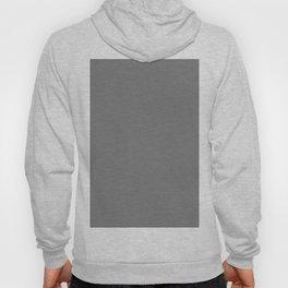 Gray Solid Color Hoody