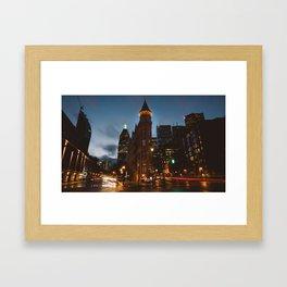 Toronto At Night Framed Art Print