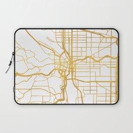 PORTLAND OREGON CITY STREET MAP ART Laptop Sleeve