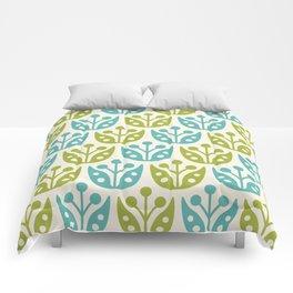 Mid Century Flower Pattern 10 Comforters