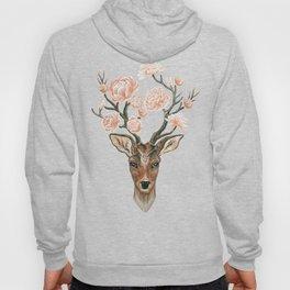 Deer and Peonies Hoody