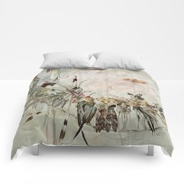 """Exotics at Play"" by Duncan Carse Comforters"