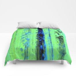 Urban Rain IV Painterly Abstract Comforters