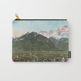 Vintage Swiss Mountains Carry-All Pouch
