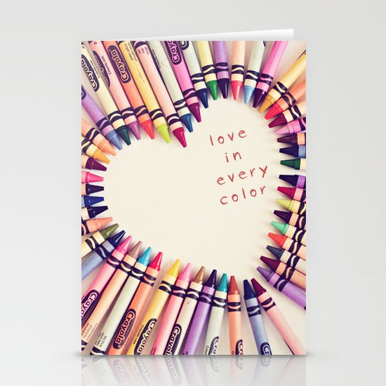 love in every color Stationery Cards