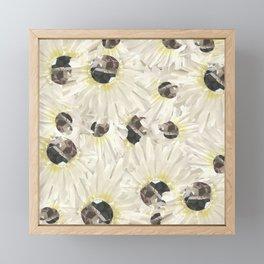 Citrine White Floral Framed Mini Art Print