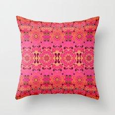 Pink Haze Bandana Ombre' Stripe Throw Pillow