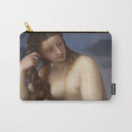"""Titian (Tiziano Vecelli) """"Venus Rising from the Sea"""" (""""Venus Anadyomene""""), 1520 Carry-All Pouch"""