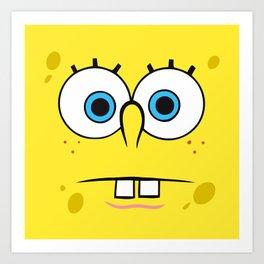 Spongebob Surprised Face Art Print