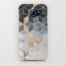 Soft Blue Gradient Cubes Slim Case Galaxy S8