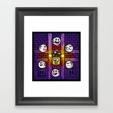 Boos in the Haunted House Framed Art Print