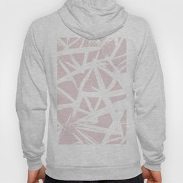 Modern white abstract geometric brushstrokes pastel light pink Hoody