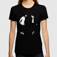 Pulp Fiction Versus Womens Fitted Tee Black MEDIUM