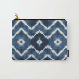 Shibori, tie dye, chevron print Carry-All Pouch