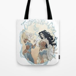 Super Powered: Fight Like a Girl Tote Bag