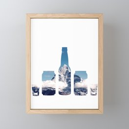 Mountain chug challenge Framed Mini Art Print