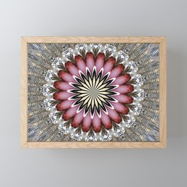 MAGENTA MANDALA Framed Mini Art Print