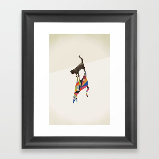 Walking Shadow, Cat Framed Art Print