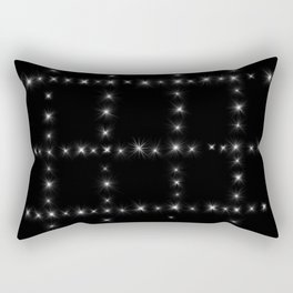 Black and White - Stars in Squares Rectangular Pillow