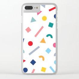 geometric funfetti Clear iPhone Case