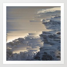 Pacific Ocean Pixel Sort Art Print