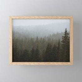 Snowy Forks Forest Framed Mini Art Print