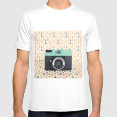 Blue Diana Mini Camera - Retro Vintage Photography MEDIUM White Mens Fitted Tee