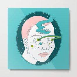 Space Girl Metal Print