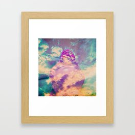 Buddha in the clouds Framed Art Print