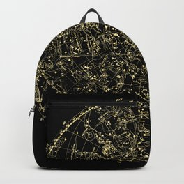 Astro Astronomy Constellations Astrologer Vintage Map Backpack
