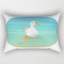 The Paddling Duck at the Se Rectangular Pillow