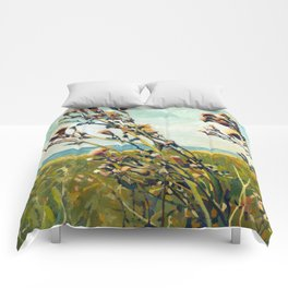 Thistles on the Beach Comforters