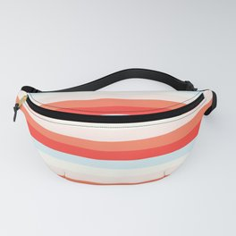 lumpy or bumpy lines abstract and colorful - QAB266 Fanny Pack
