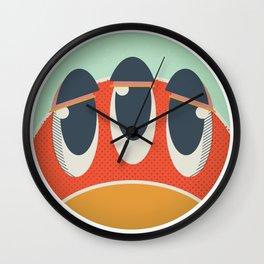 Cute Monster Sticker Wall Clock