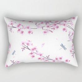 Pink Sakura Rectangular Pillow