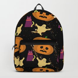 Halloween Marshmallows Dark Backpack
