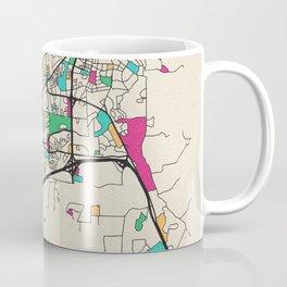 Colorful City Maps: Santa Fe, New Mexico Coffee Mug