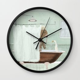 shower time Wall Clock