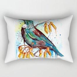 Kowhai Tui Rectangular Pillow