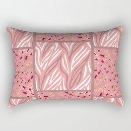 RoseGold: Animal Print Quilt Rectangular Pillow