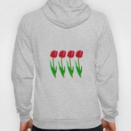 Tulip Flowers  retro florales  seamless pattern mini art minimal concept Hoody
