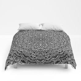 Zen Black and white Mandala Comforters