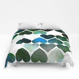 Mod Blue Hearts Comforters