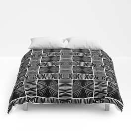 Fenced Coins Tribal-Inspired Pattern Comforters